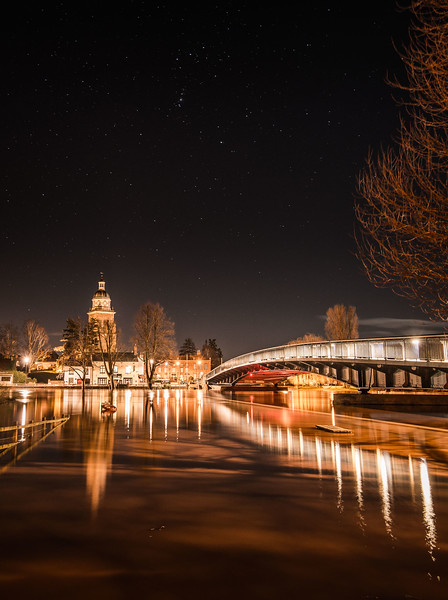 Stary Night over Flooded Upton upon Severn