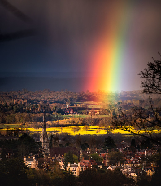 Rainbow - Early Spring Storms over Worcestershire