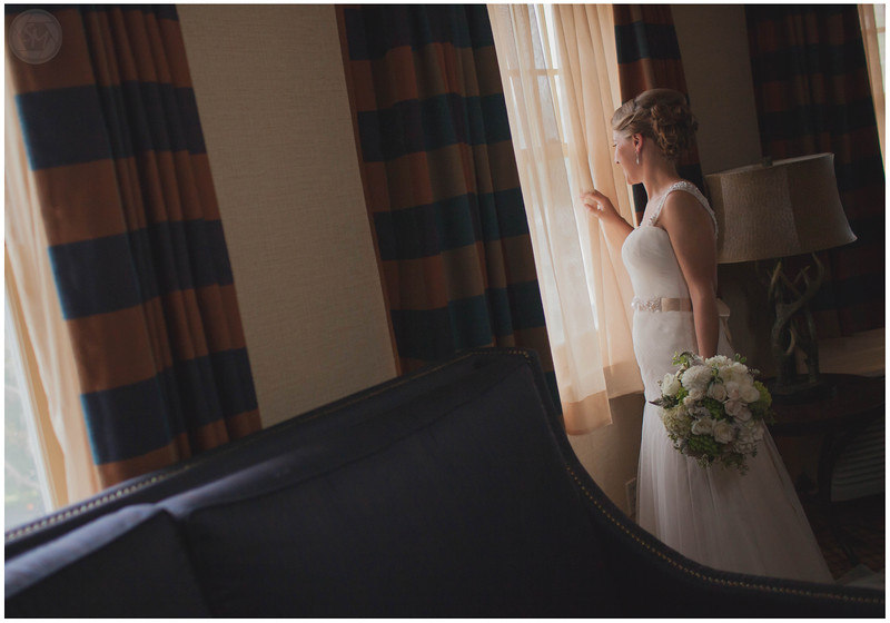One of my favorite moments when the bride looks outside with anticipation.