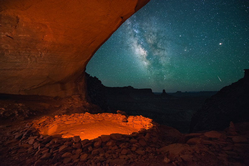 False Kiva in Canyon Lands Utah