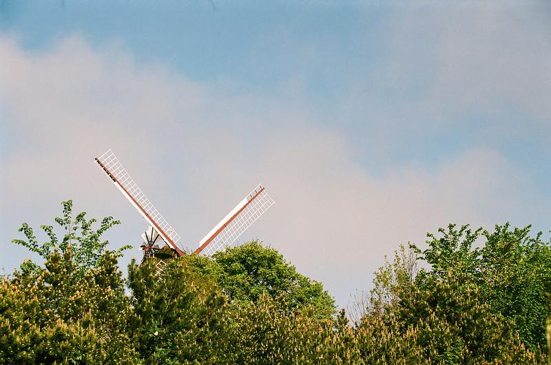 Peek-a-boo mill. Hørsholm mill, Hørsholm, Denmark (Fuji Superia 200 film)