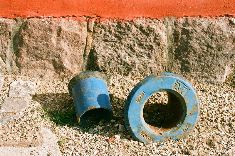 Round blue pipe things...the technical term. (Fuji Superia 200 film)