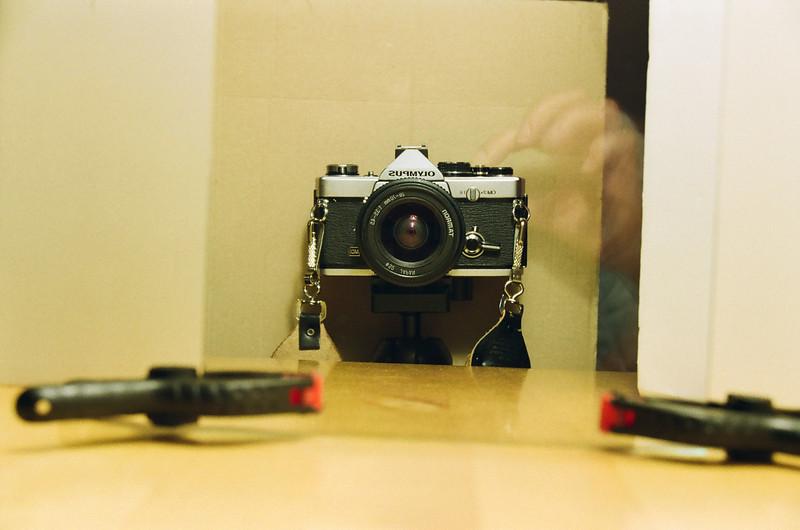 Olympus selfie!! (Fuji Superia 200 film)