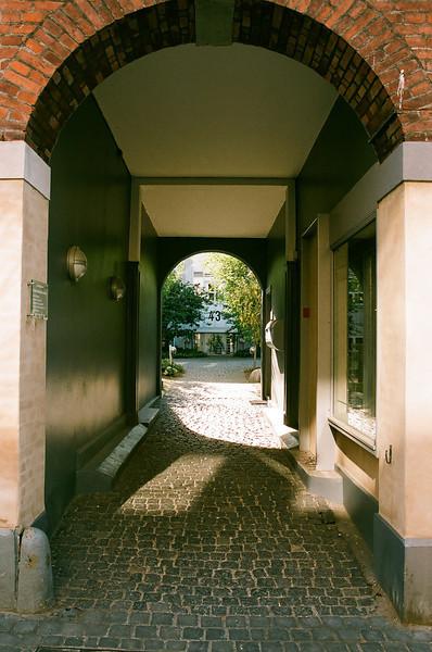 Passageway to Hovedgaden 43, Hørsholm, Denmark (Fuji Superia 200 film)