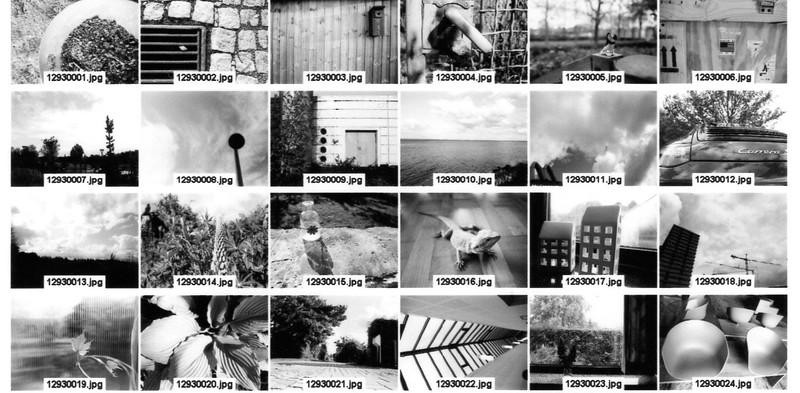 Contact Sheet (Tri-X 400 film)