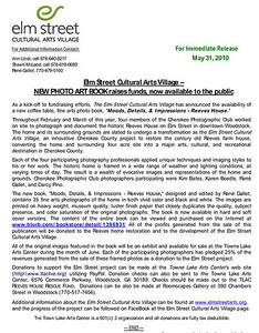 Press Release Elm Street Cultural Arts Village Woodstock, Georgia - 2010 e-mail René Gallet