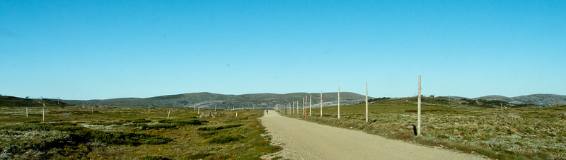 A Lone Cyclist on the Bogong High Plains
