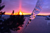 A sunset in the dead of winter. The icicle stabbing all thoughts of a warm day anytime soon!