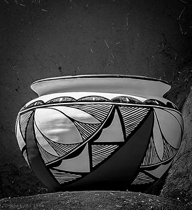 """' Taos Pottery #44 'Taos Pueblo, New Mexico  12""""x16"""", Luster paper (12 mil) © R.Gallet 1996"""