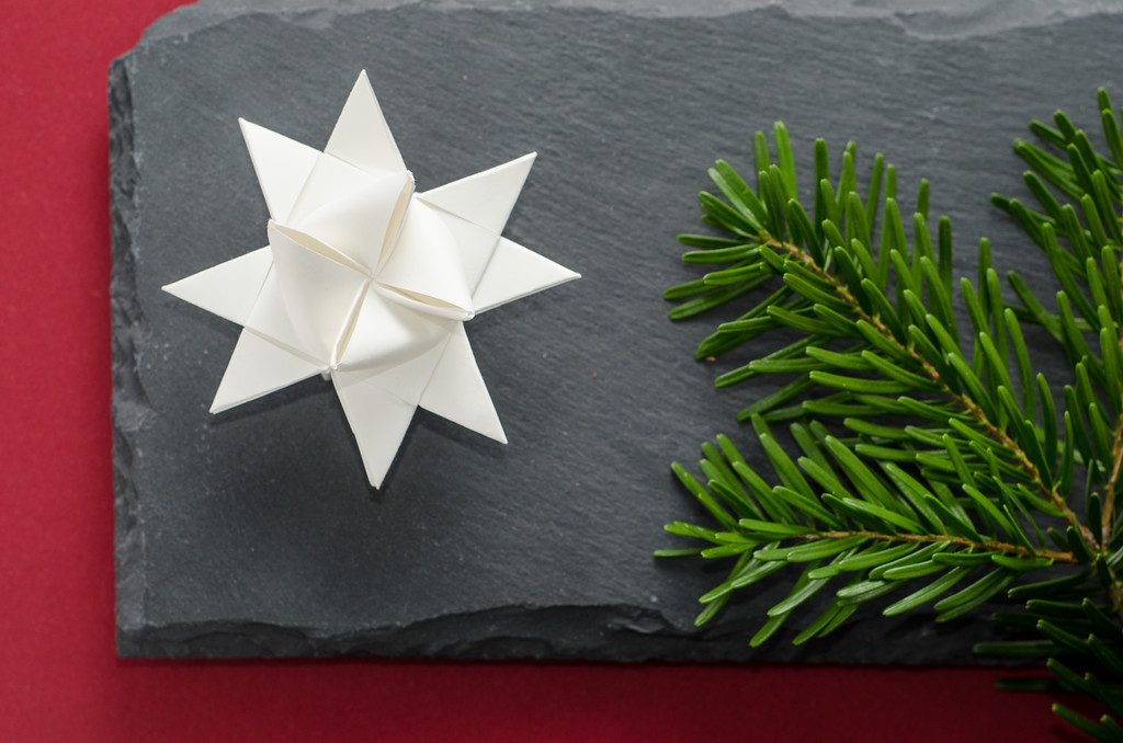 Home-made paper star