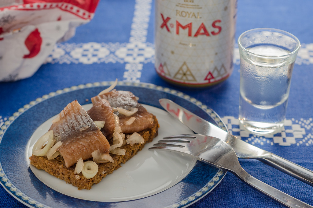 Pickled herring and snaps