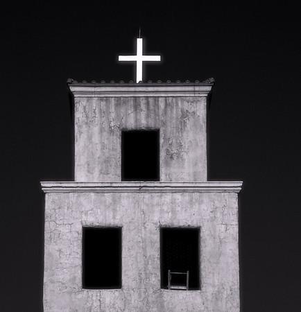 <center><h2>'Santuario de Guadalupe - Steeple'</h2> Santa Fe, NM <em>(Infrared image)</em></center>