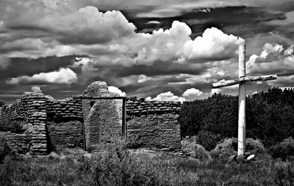 "<center><h2>'St Robert's Ruin'. </h2>Abiquiu, NM   12""x16"", Luster paper <em>limited edition of 100</em></center>"