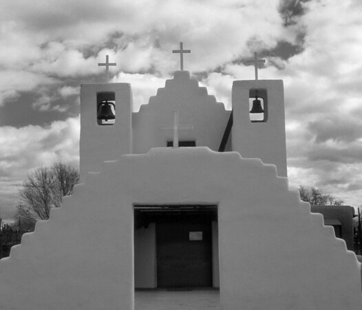 <center><h2>'St Jerome Chapel-2' </h2>Taos Pueblo, NM<em> (circa 1850)</em></center>