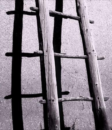 <center><h2>'Pueblo Ladder' </h2>  San Ildefonso Pueblo, New Mexico</center>