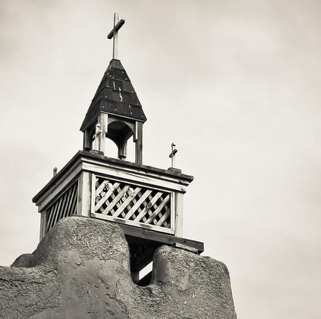 "<center><h2>'San Jose de Garcia Tower'. </h2>Las Trampus, NM   12""x16"", Luster paper <em></em>"