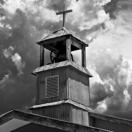 """<center><h2>'Tin Bell Tower' </h2>Truchas, NM   12""""x16"""", Luster paper <em>limited edition of 100</em></center>"""