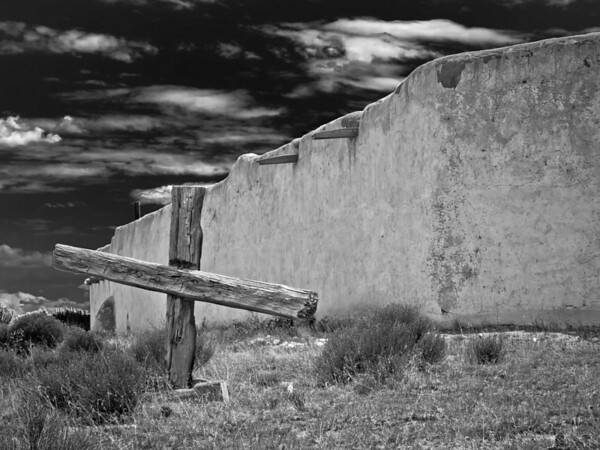 "<center><h2>''Vida las Cruces, Grave' (BW)</h2> Church of  the Penitentes Abiquiu, NM</center>    <center>12""x16"", Luster paper <em>limited edition of 100</em></center>"