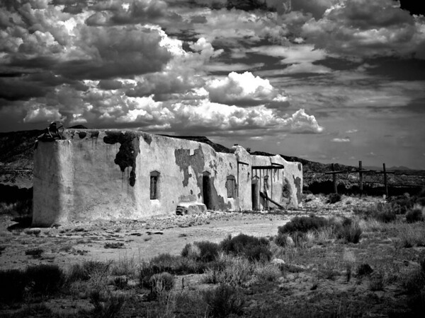 "<center><h2>'Church of the Penitentes of Abiquiu</h2>Abiquiu, NM  12""x16"", Luster paper <em>limited edition of 100</em></center>"