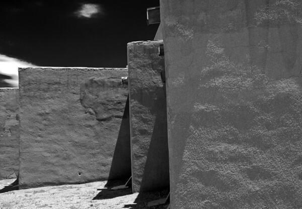 "<center><h2>'Pubelo Structures'. </h2>Pojoaque Pueblo, NM   12""x16"", Luster paper <em>limited edition of 50</em></center>"