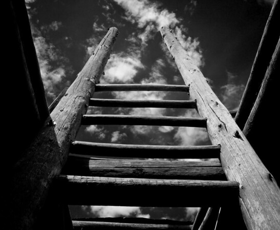 "<center><h2>'Ladder to the Sky'</h2>Jemez, NM   12""x16"", Luster paper <em>limited edition of 100</em></center>"