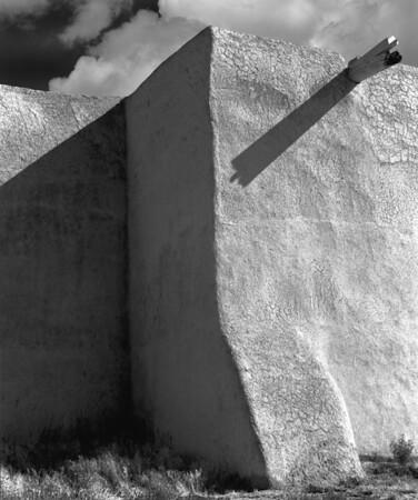 <center><h2>San Francisco de Asis </h2> (rear buttress view)  Rancho de Taos, NM</center>