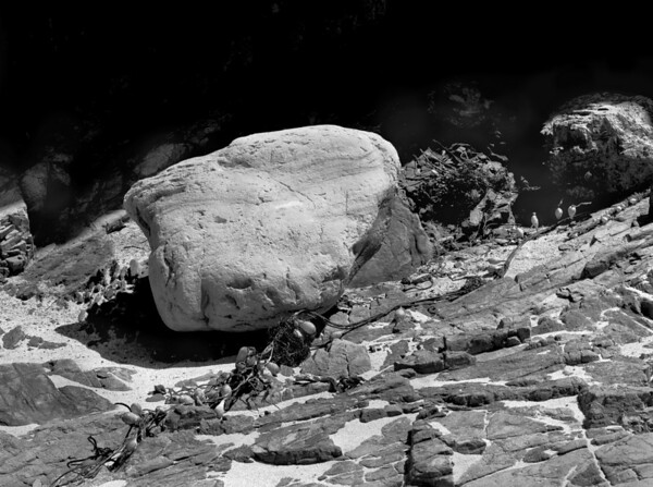 <center><h2>'Garapatta Beach Rocks - 3'</h2> Garapatta Beach State Park, CA</center>