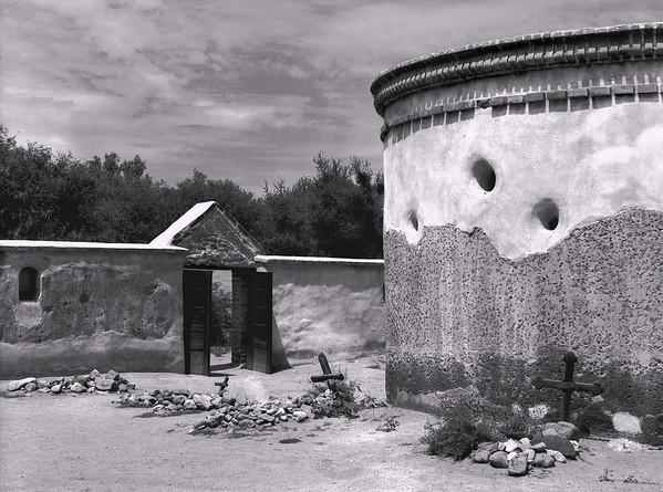 <center><h2>'Tumacacori Burial Chapel'</h2> Tumacarcori National Historic Park, AZ </center>