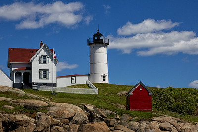 Nubble Light on Cape Neddick in York Beach, Maine. (2013)