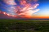 Sailsbury Beach marsh land at sunset.