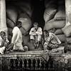 Nine men in old Delhi
