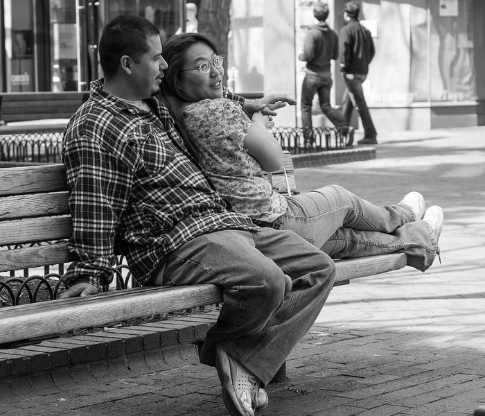 Couple (Boulder Downtown Mall, March 2010)