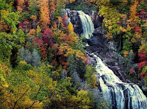 <h2><center>'Whitewater Falls - Fall Color'</h2> <em>Cashiers, NC</em></center>