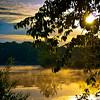 "<center><h2>""Morning Gold""</h2>   Lake Hamilton Hot Springs, AR  12""x14"" on 13""x19"" Luster Paper"