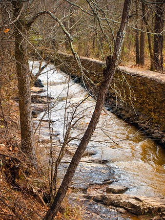 """<center><h2>' Rope Mill Flume Channel '</h2>  Woodstock, GA  Matted 16""""x20"""", on Luster Photo paper (12 mil) © 2013 René Gallet </center>"""
