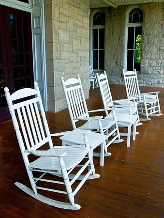 "<center><h2>""Veranda Seating""</h2>   Eurika Springs, AR  12""x14"" on 13""x19"" Luster Paper"