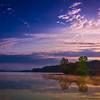 "<center><h2>""Misty Dawn""</h2>   Lake Hamilton Hot Springs, AR  12""x14"" on 13""x19"" Luster Paper"