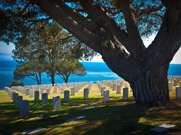 """<center><h2>' Our Heros '</h2>  Point Loma National Cemetery ,  San Diego. CA  Matted 16"""" x 20"""",  Photo Luster paper (12 mil) Open edition </center>"""