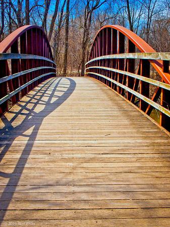 "<center><h2>' River Woods Bridge '</h2> Vernon Hills, IL  12""x16"" on 13""x19""  Premium Luster Photo Paper Edition of 25</center>"