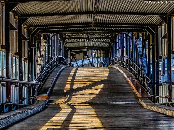 Hamburg Canal Footbridge