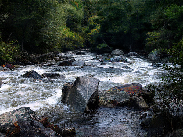 <center><h2>'Mountian River Rapids'</h2>   Blue Ridge Mountains, NC</center>