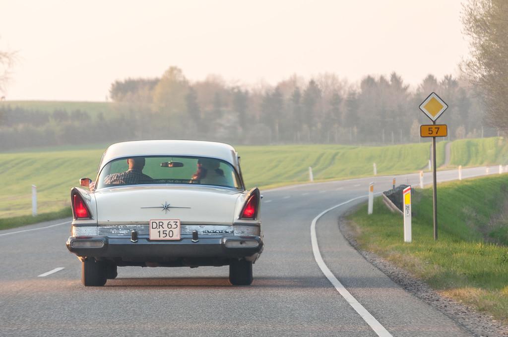 Cruzin' in a '57 Ford Lincoln