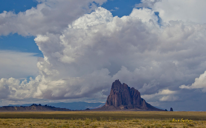 Ship Rock and Developing Thunderhead