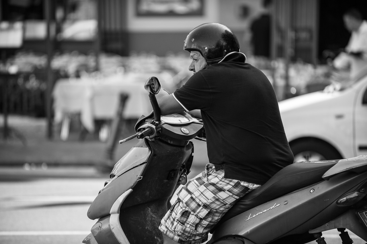 Sorrento Motor Scooter Rider