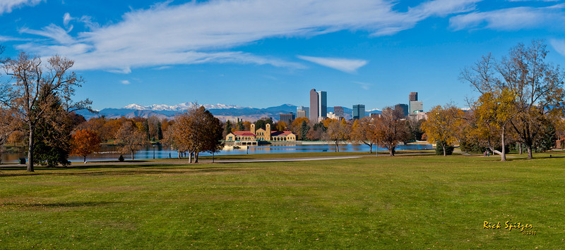 A Panorama of the Denver Skyline from the Denver Museum of Nature and Science