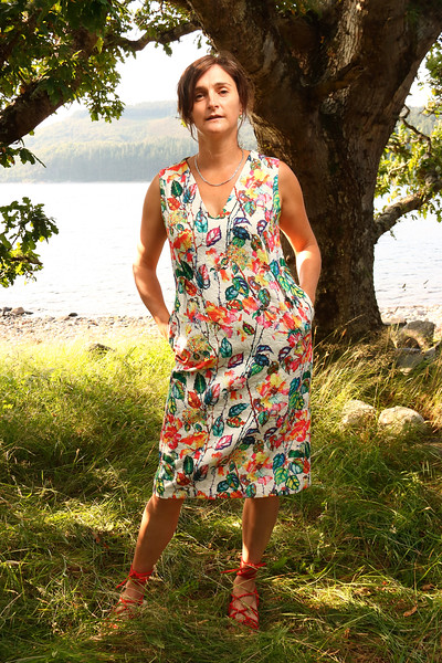 By a Scotish Loch.  Modelled by Dawn.  from a Photoshoot for Marigold Clothing.