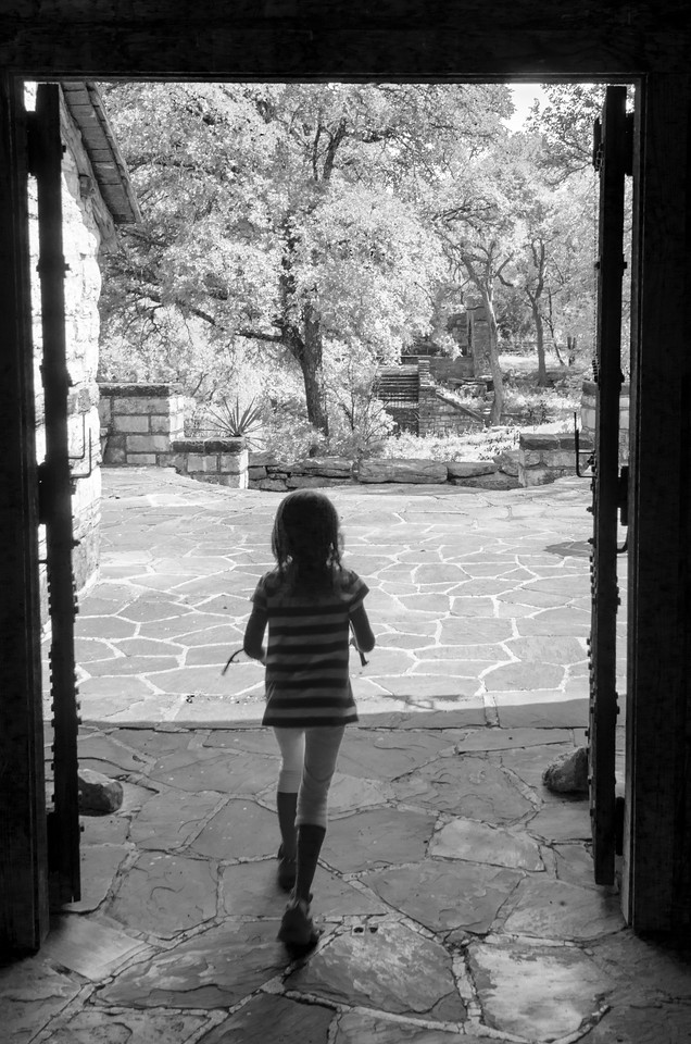 Young Girl in Doorway