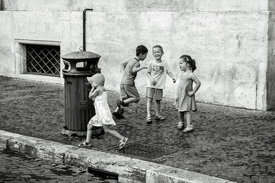Rome Street Kids Playing