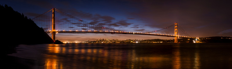 two bridges, two towers and a pyramid | san francisco, california