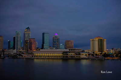 Tampa Convention Center with City Skyline